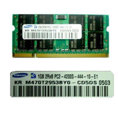 삼성전자  노트북 DDR2 1G PC2-4200 (정품)_이미지
