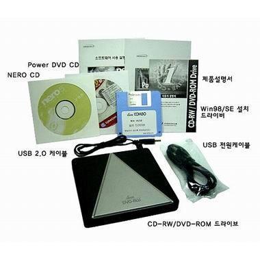 한국미디어  CD/DVD콤보 KSC-24BU 외장형_이미지