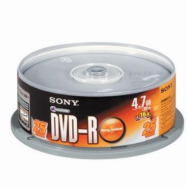 SONY DVD-R 4.7GB 16x 케익 (25장)_이미지
