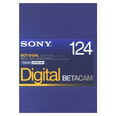 SONY BCT-D124L Betacam 124분 DV테이프 (1개)_이미지