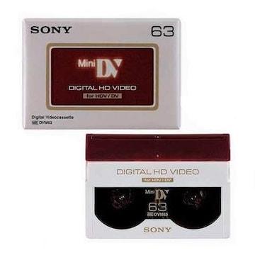 SONY MiniDV 6mm DVM63HD 63분 DV테이프 (1개)_이미지