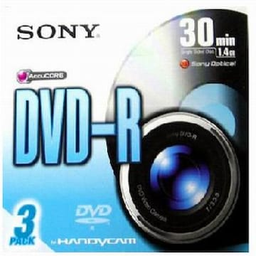 SONY DVD-R 1.4GB 30분용 미디어 3장_이미지