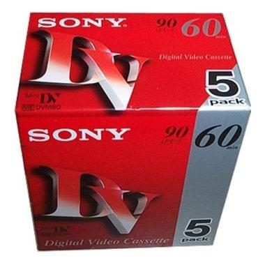 SONY MiniDV 6mm 3DVM60RE 50개 60분 10팩 DV테이프 (5입)_이미지