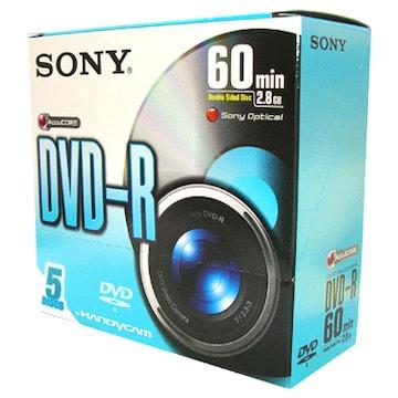 SONY DVD-R 2.8GB 2x 쥬얼 5장 미니_이미지