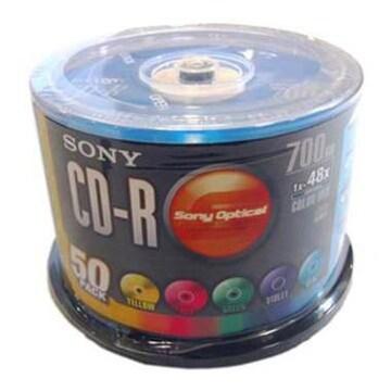 SONY CD-R 700MB 48x 컬러 케익 (50장)_이미지