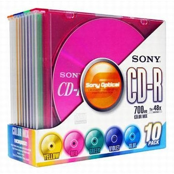SONY CD-R 700MB 48x 슬림 (10장)_이미지