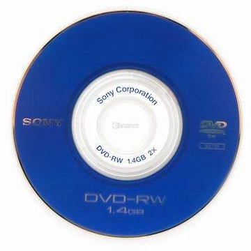 SONY DVD-RW 1.4GB 2x 미니 쥬얼 (10장)_이미지