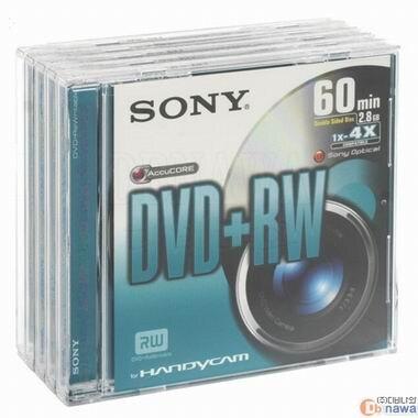 SONY DVD+RW 2.8GB 4x 5장 미니_이미지