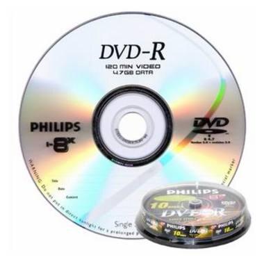 필립스 DVD-R 4.7GB 8x 케익 10장_이미지