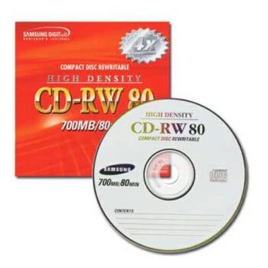 삼성전자 CD-RW 700MB 4x 쥬얼 (10장)_이미지