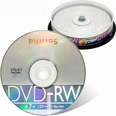 필립스 DVD+RW 4.7GB 4x 케익 10장_이미지
