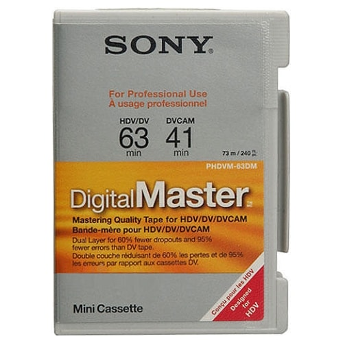SONY PHDVM-63DM DVCAM 63분 DV테이프 (1개)_이미지