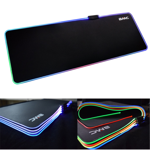 BMC RGB Soft Gaming Mouse Mat LED 게이밍 장패드