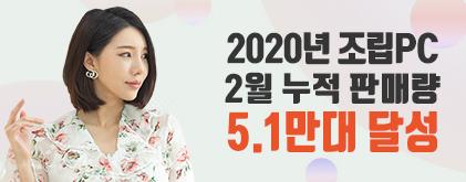 샵다나와 2020년 조립PC 누적판매량 5.1만대