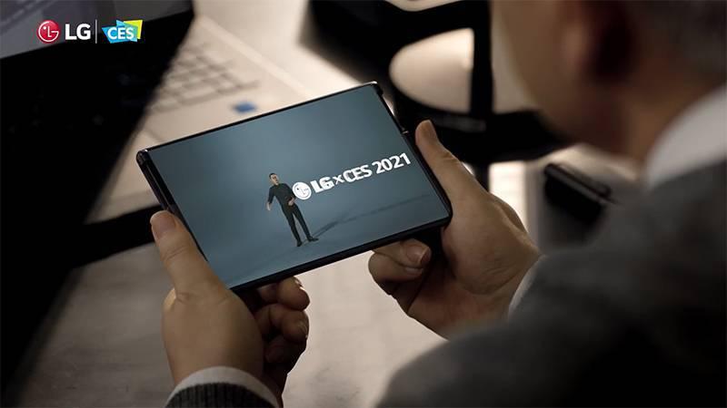 지난 1월 개최된 CES2021에서 깜짝 모습을 드러낸 LG 롤러블 스마트폰. 출처=LG전자