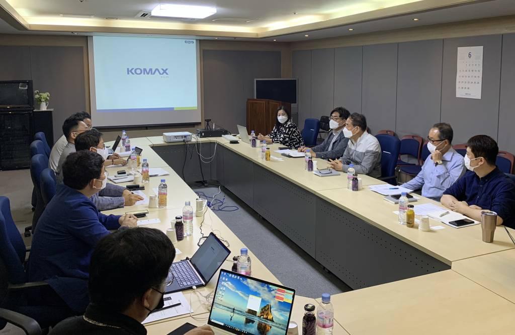 지난 6월 초, 코멕스산업과 만난 스케일업 프로젝트팀, 출처: IT동아
