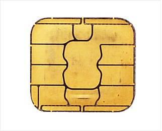 접촉식 IC카드는 표면에 금색의 금속 패턴이 붙어있다
