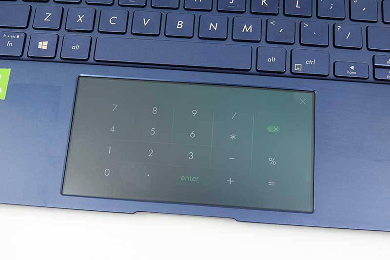 스크린패드에서 이용하는 계산기(젠북 프로 15 UX535)
