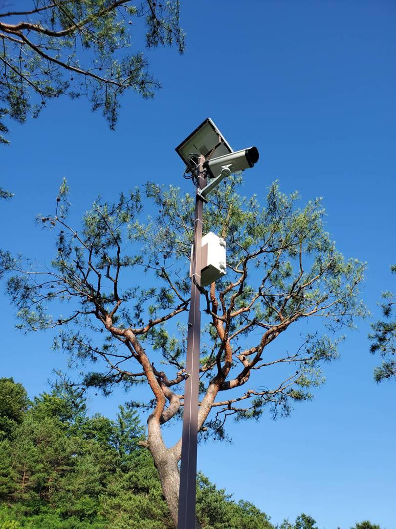 골프장에 설치된 카탈로닉스의 NDVI 카메라. 출처 = 카탈로닉스