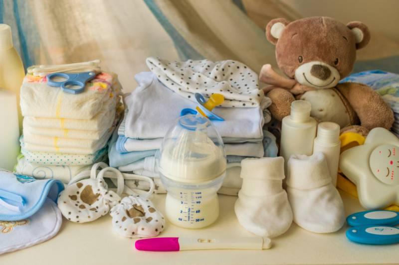 신생아용 육아용품, 출처: 셔터스톡