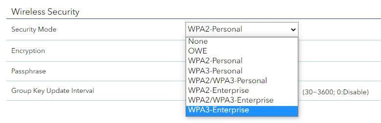 WPA3-엔터프라이즈급 192비트 보안 모드를 지원한다