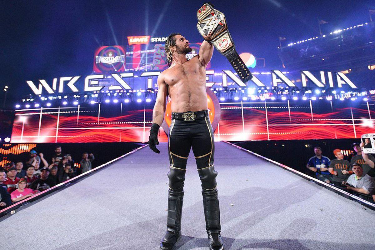 ▲ '머니 인 더 뱅크' 캐싱-인으로 직접 레슬매니아 31의 주인공이 된 세스 롤린스 (사진: WWE.com)