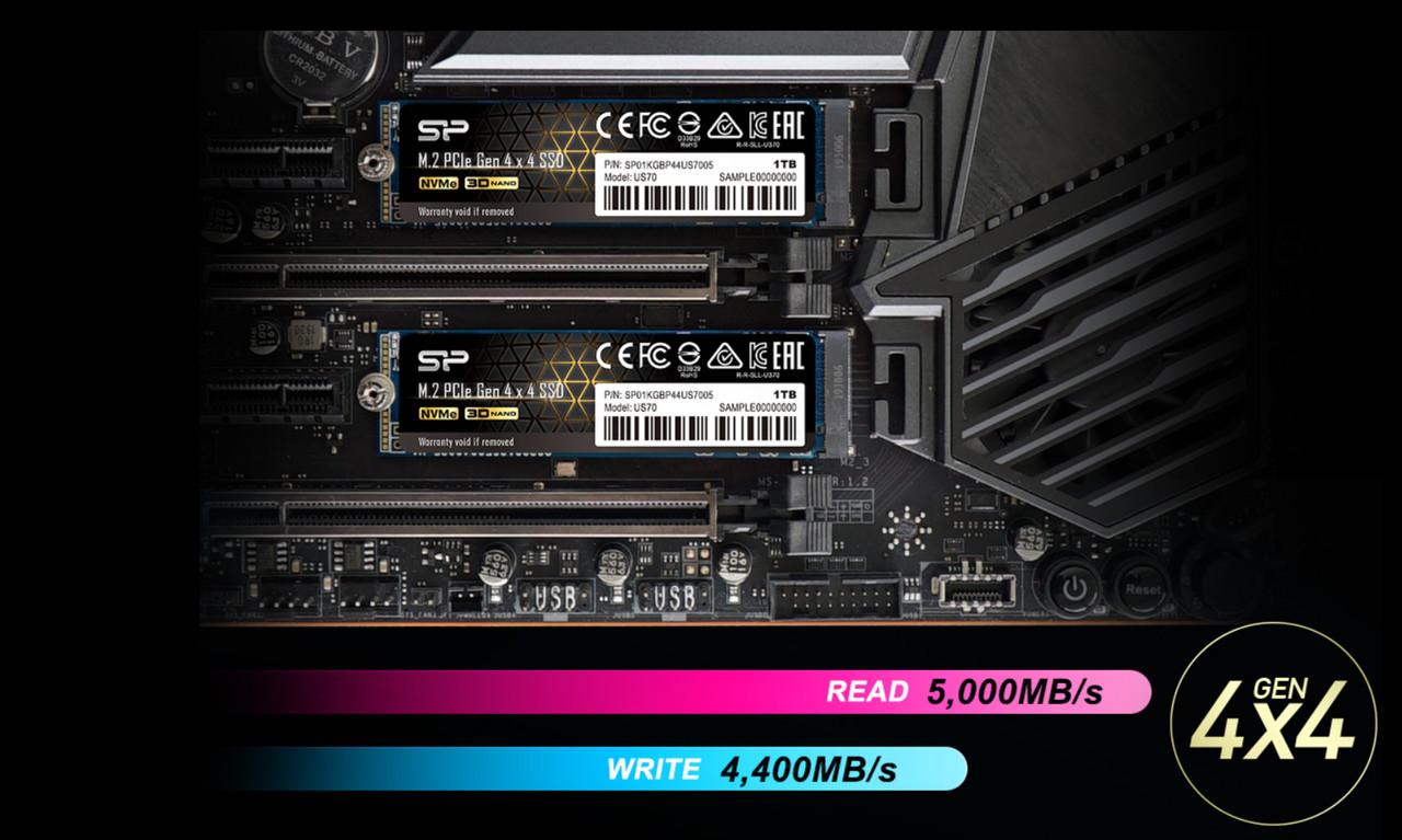 ▲ 고대역폭으로 빠른 속도 제공하는 PCIe Gen 4 인터페이스 (사진: 실리콘파워)
