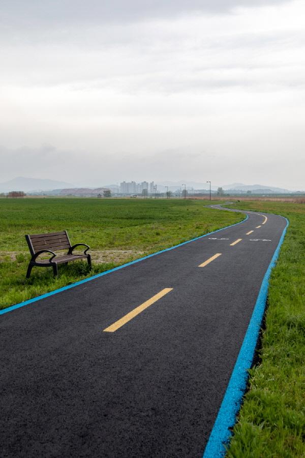 부여 구간 자전거길. 탄성이 절로 나온다