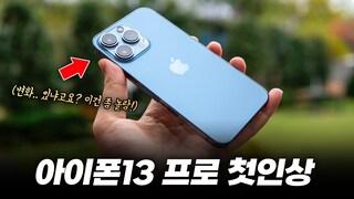 다른 사람 다 욕해도.. 아이폰13 프로 끌린 이유? | iPhone 13 Pro 시에라 블루 첫인상  (ft 나눔은 덤)