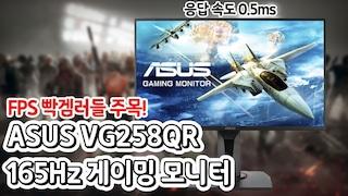 FPS 모니터의 정석! 응답속도 0.5ms ASUS VG258QR 165 게이밍 모니터!