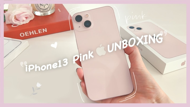 iPhone13 Pink Unboxing aesthetic ❤