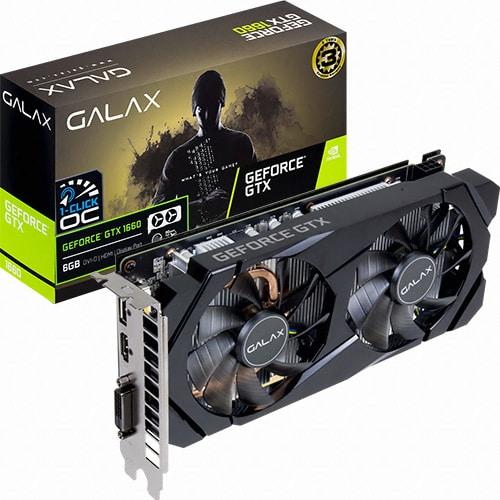 (실재고보유) 갤럭시 GALAX 지포스 GTX 1660 BLACK D D5 6GB