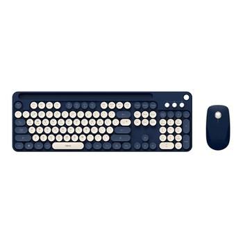 ABKO WKM50 펜홀더형 무선 키보드 마우스 세트 (네이비)