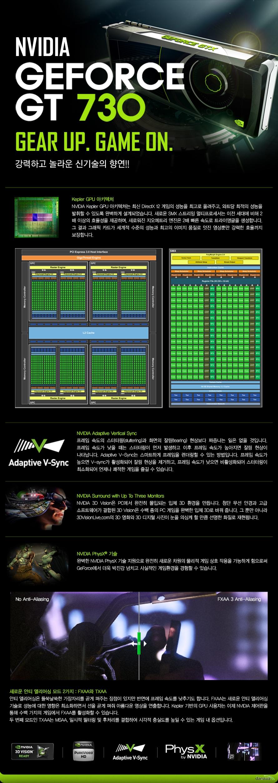 MSI 지포스 GT730 OC D5 1GB LP 화이트